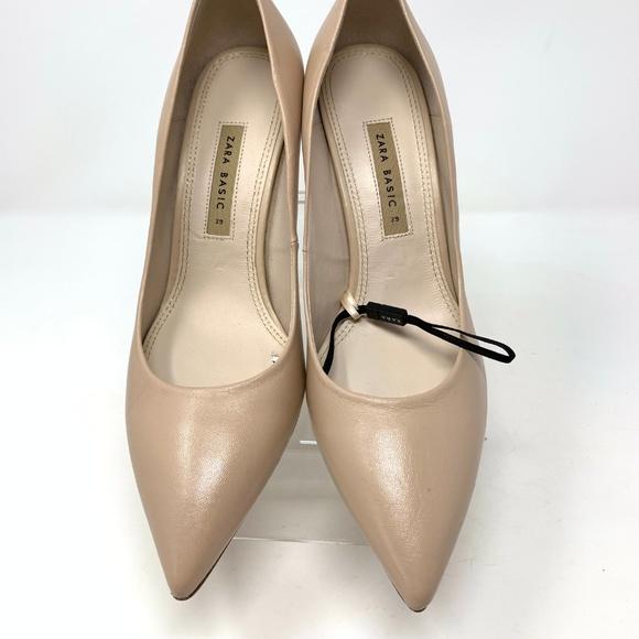 Zara Shoes | Nude Ecru High Heels Pumps Court | Poshmark